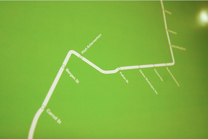 Subway Map Green Detail 2 685