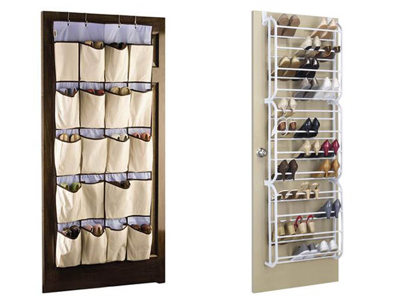 shoe caddy, closet organization, closet storage, close door storage