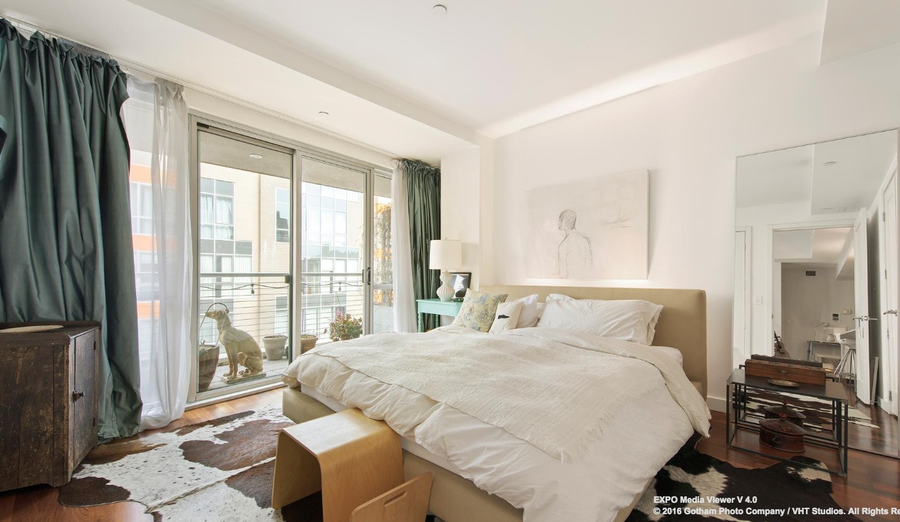125 North 10th Street, master bedroom, condo, williamsburg