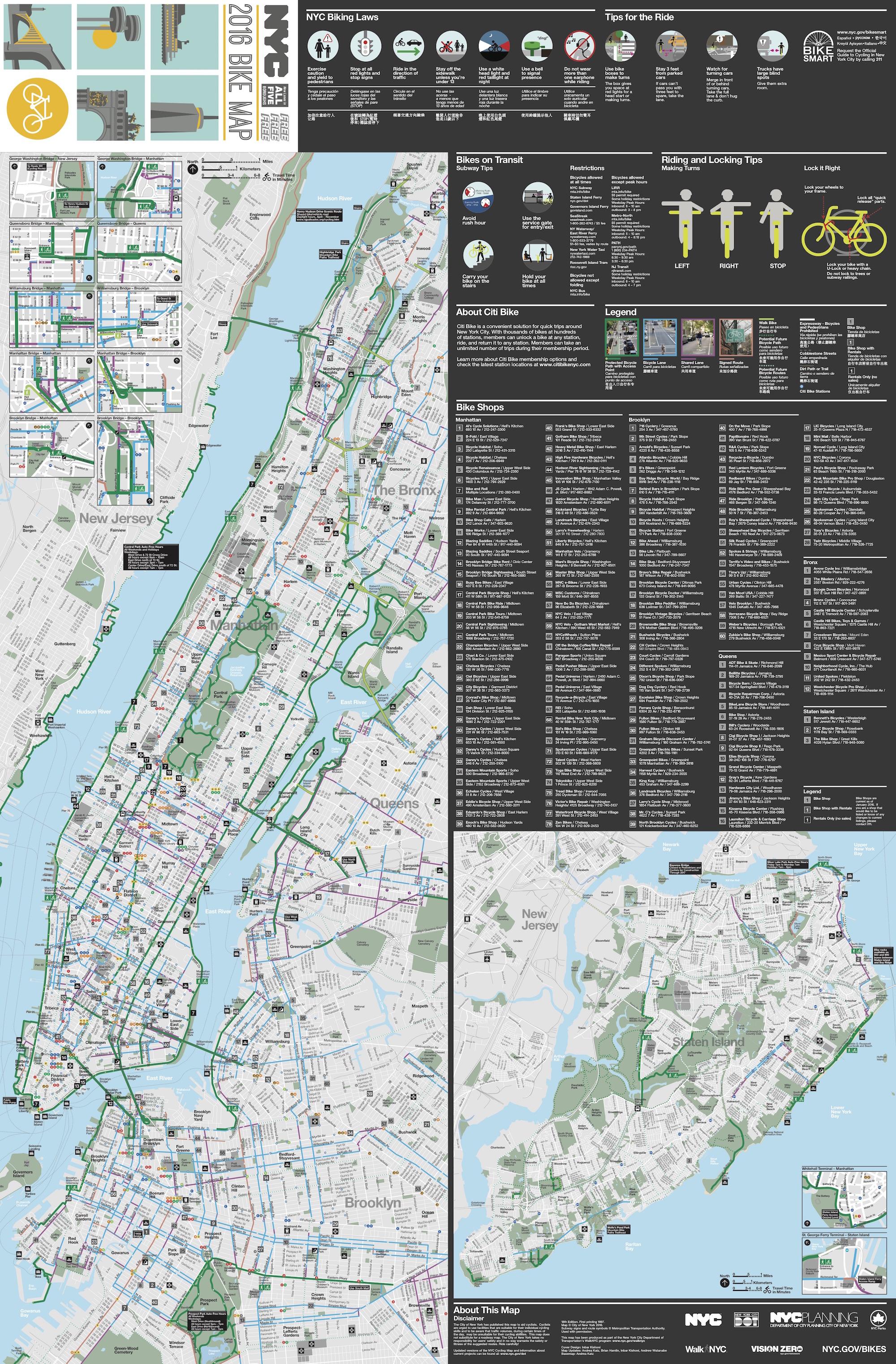 DOT, bike map, bike lanes, department of transportation, transportation,