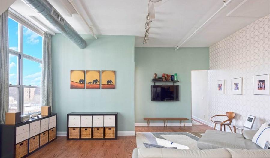 176 johnson street, toy factory lofts, downtown brooklyn, living room