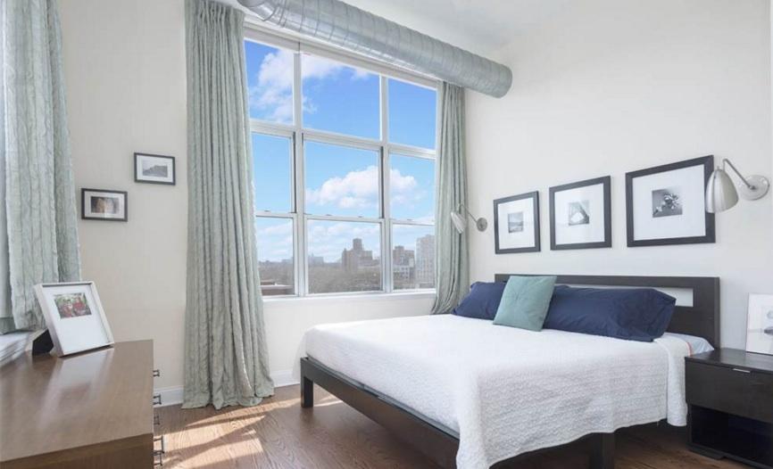 176 johnson street, master bedroom, toy factory lofts