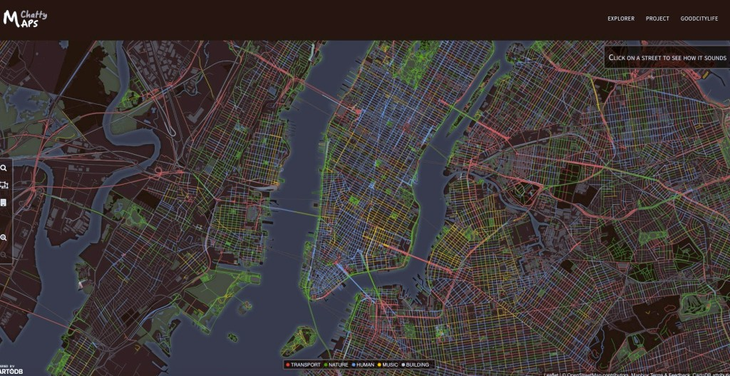 chatty map, maps, nyc sound map, nyc noise map, data visualization, new york city sounds, goodcitylife