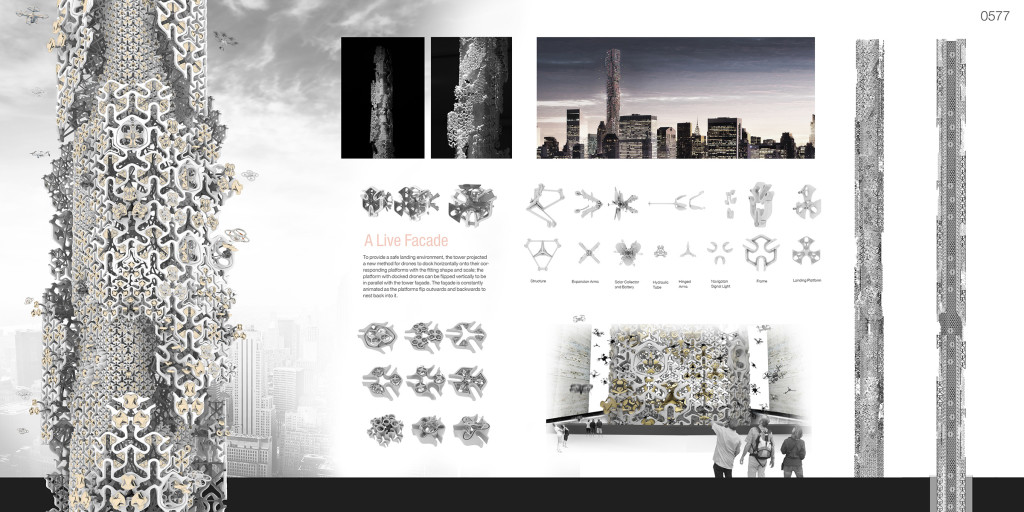 The Hive, 432 Park Avenue, Evolo Skyscraper Competition, drone control terminal