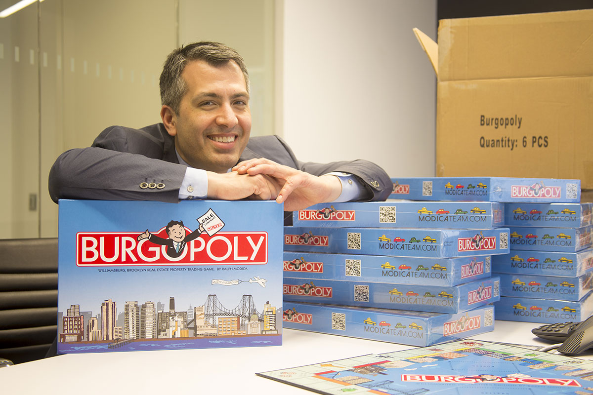 bugopoly board game based on williamsburg, brooklyn