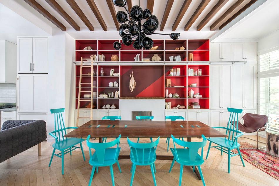 Jessica Helgerson Design, painted shelves