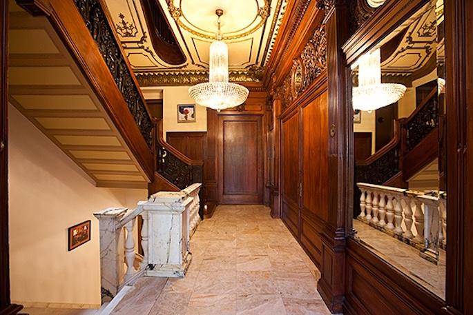 3 Riverside Drive paneled hallway