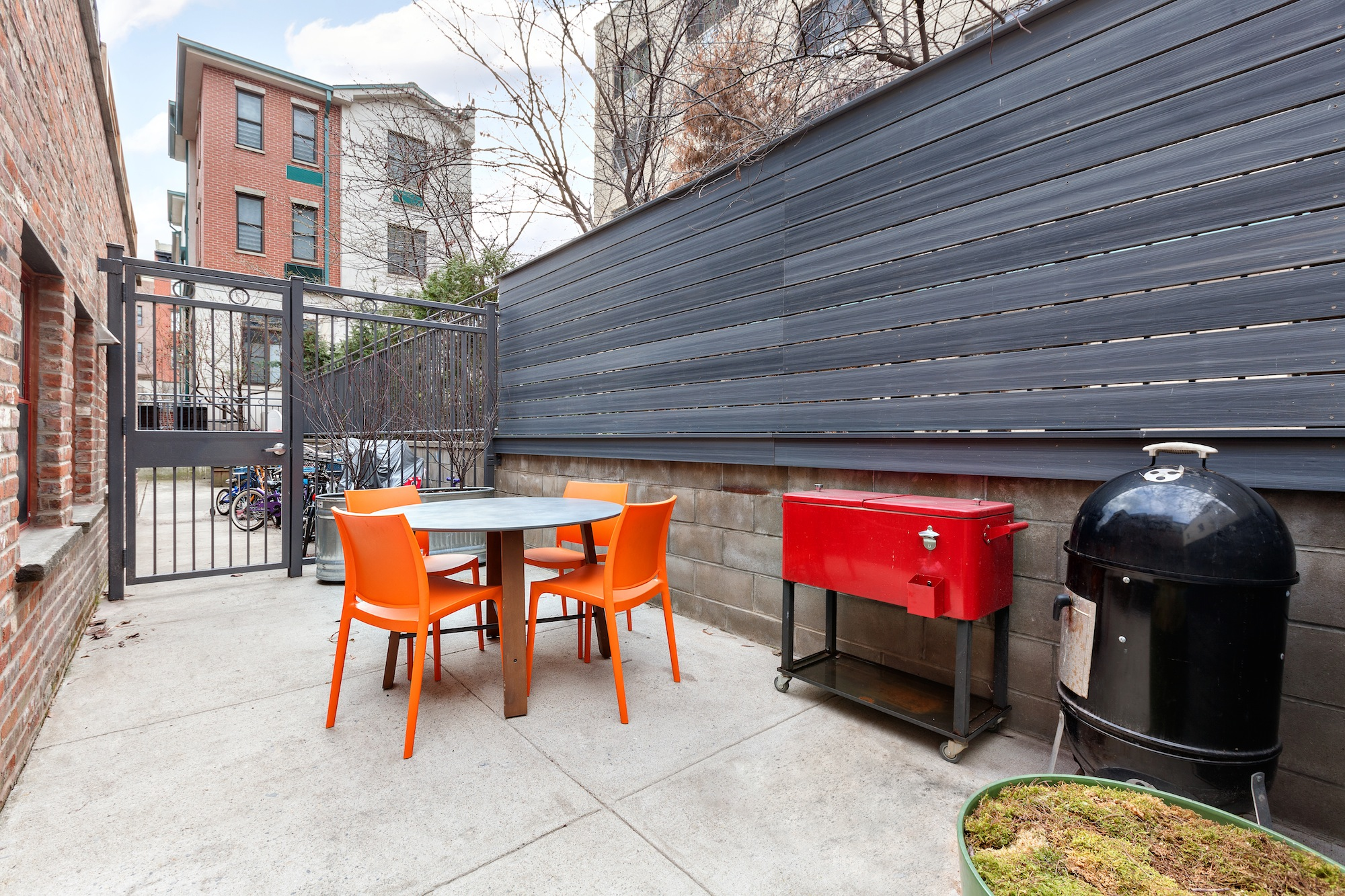 48 tiffany place, backyard, outdoor space, townhouse, brooklyn