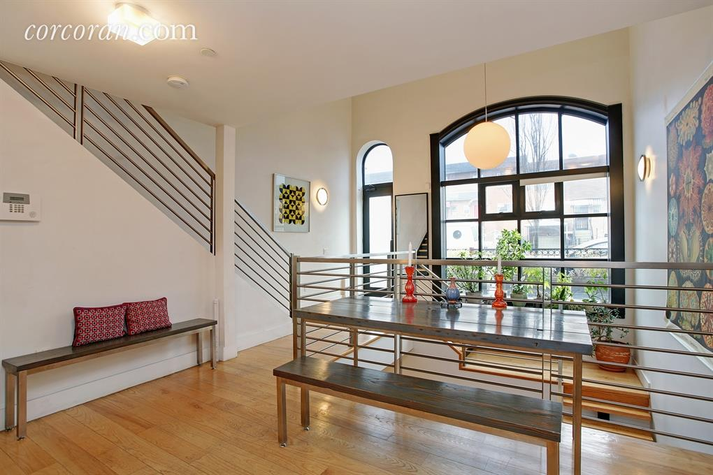 735 dean street, prospect heights, brooklyn, firehouse, rental, living area