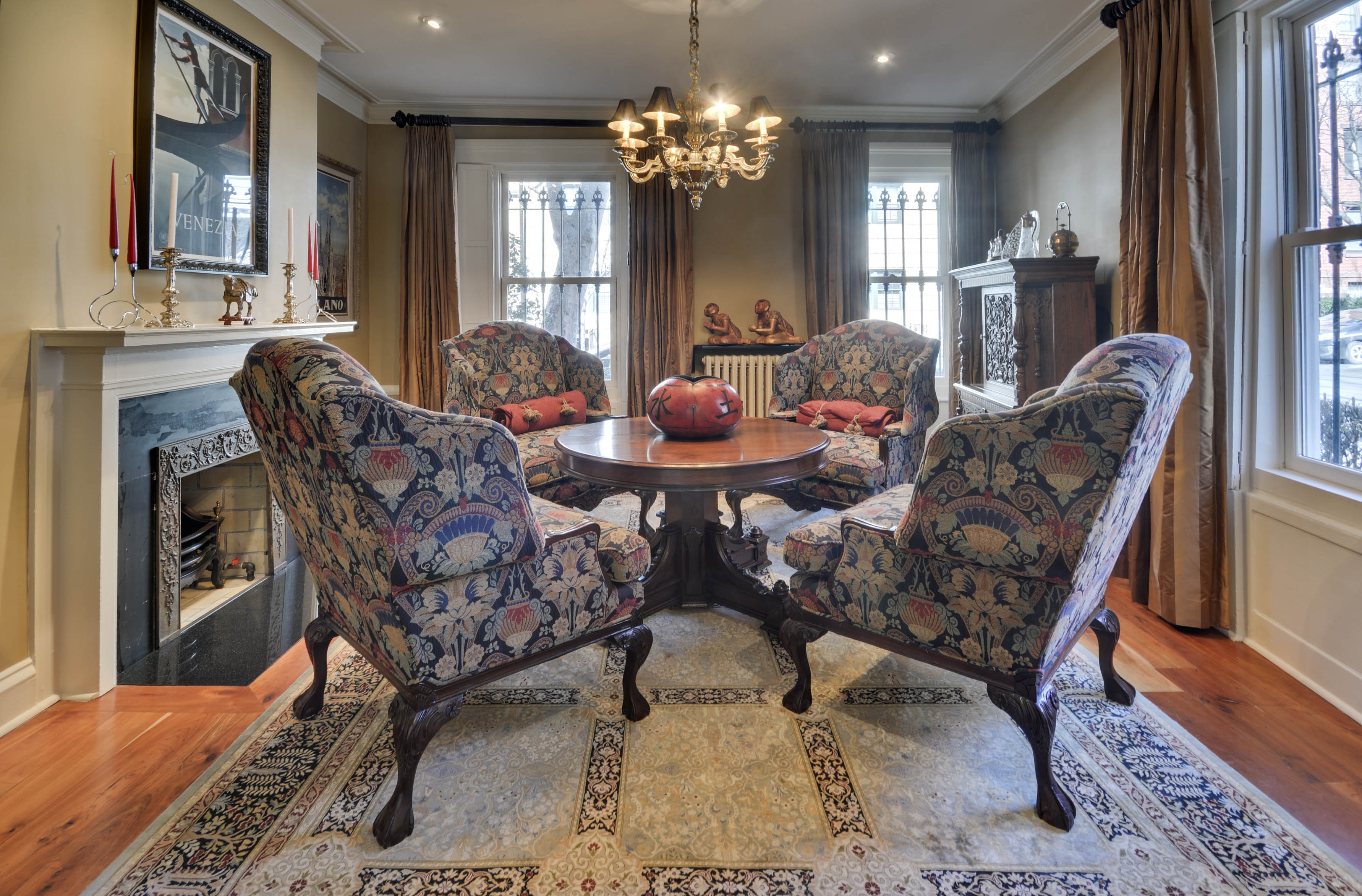 2 sidney place, living room, brooklyn heights