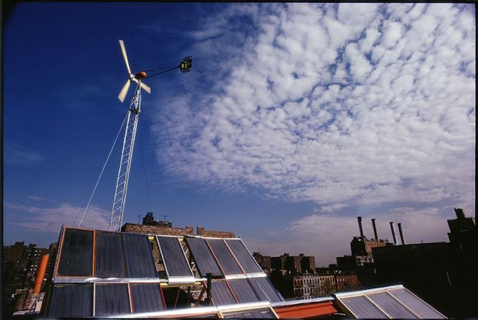 East village windmill, 519 east 11th street solar power, wind power, alternative energy, Travis Price, David Norris