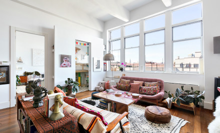 60 Broadway, living room, williamsburg, condo