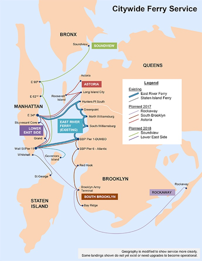citywide ferry map