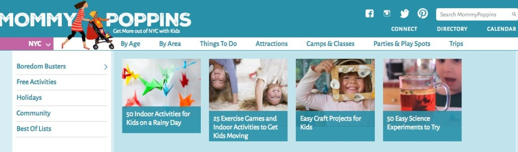 Mommy Poppins, Anna Fader, NYC kids website