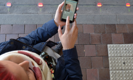 Pavement Traffic Lights Texting 3