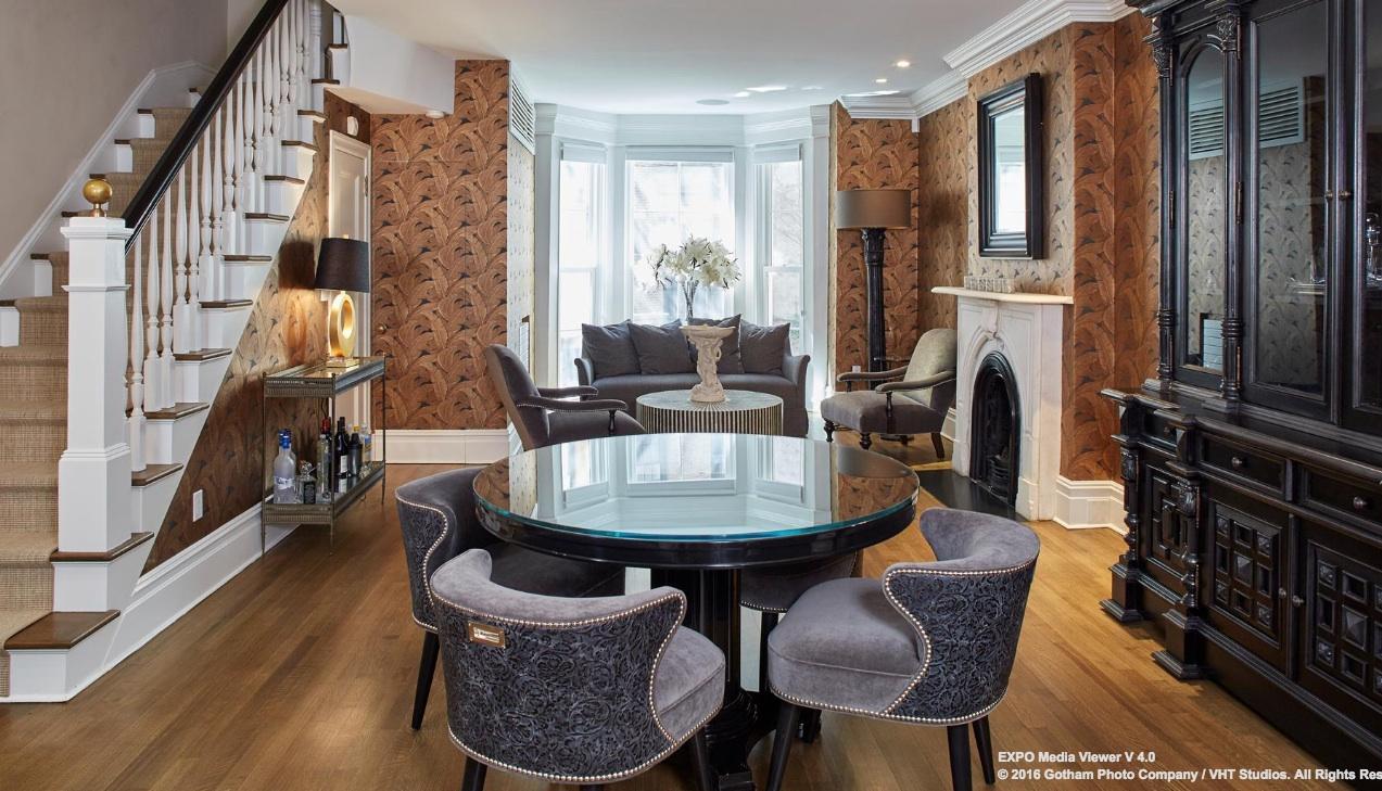 dining room, 114 east 10th street, east village