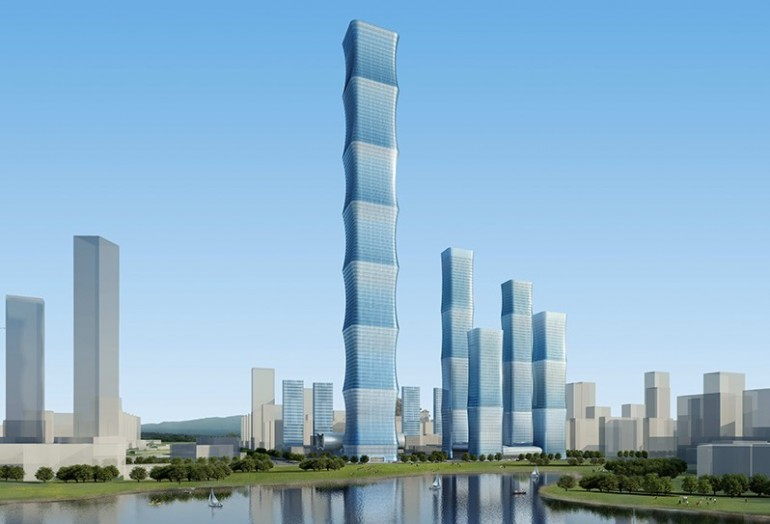 Evergrande International Finance Center proposed for Hefei China