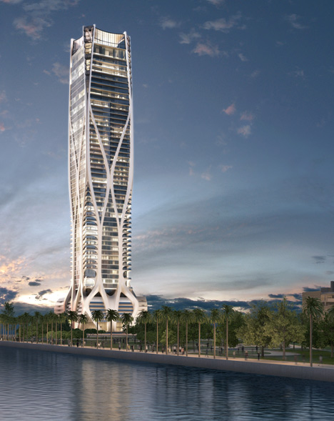 Signature Tower designed by Zaha Hadid for Miami