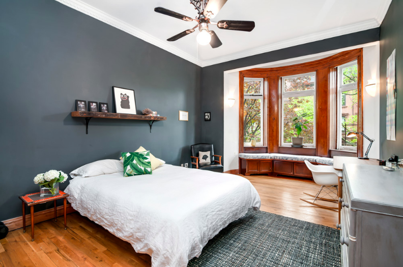 26 south oxford street, fort greene, limestone mansion, bedroom