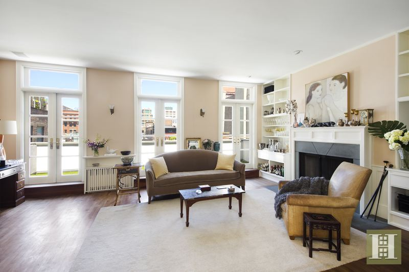 17 jay street, tribeca, rental, living room