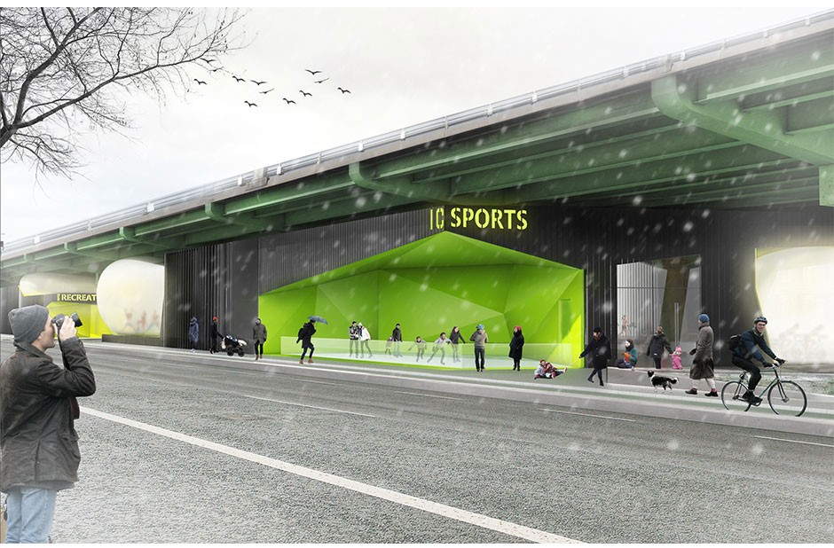 Design Firm Proposes Food Court Sports Center As Uses For Neglected Space Under The Bqe further Design Firm Proposes Food Court Sports Center As Uses For Neglected Space Under The Bqe together with Design Firm Proposes Food Court Sports Center As Uses For Neglected Space Under The Bqe moreover  on design firm proposes food court sports center as uses