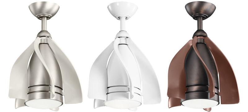 Kichler pendant fans, Kichler, small ceiling fans, sleek ceiling fans