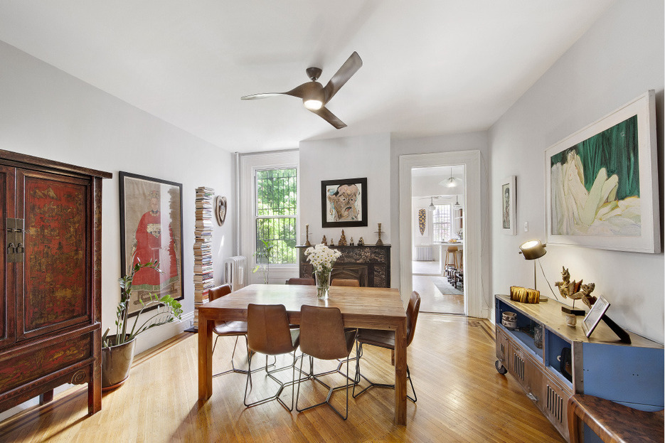 123 cambridge place, clinton hill, frame house, dining room