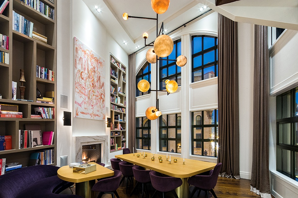 137 franklin street, penthouse, tribeca, dining room