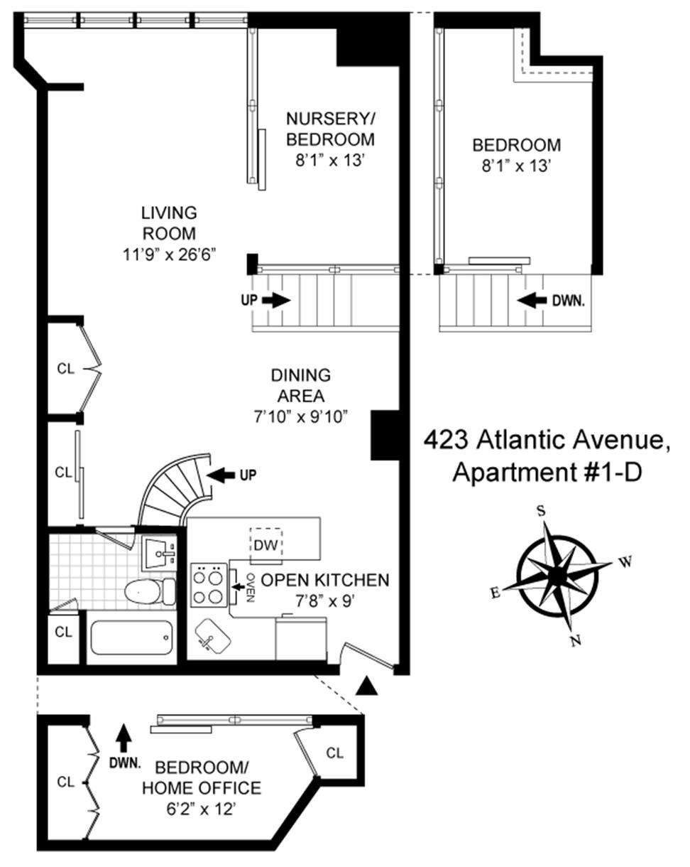 floorplan, loft, 432 Atlantic Avenue