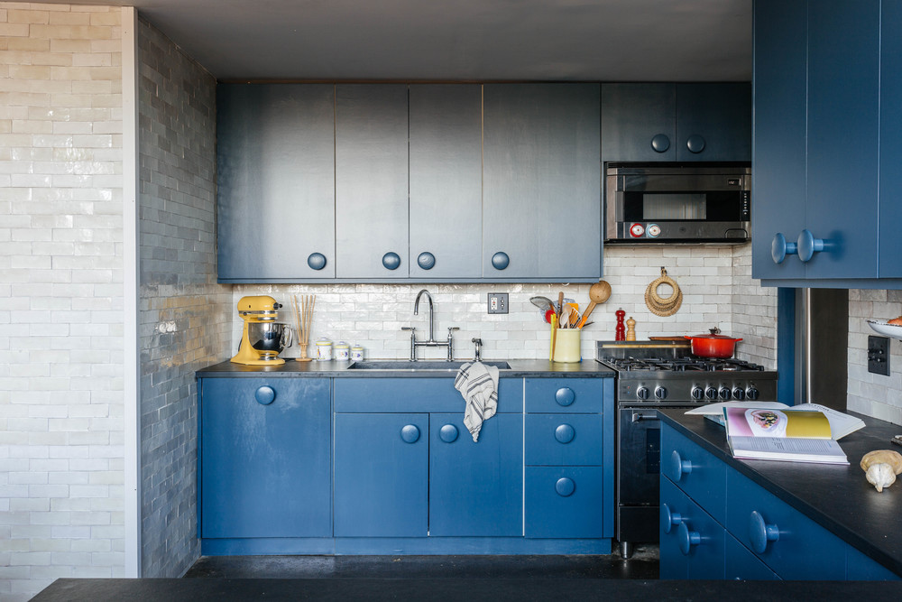 Brooklyn design firm creates dramatic living spaces inside for Kitchen cabinets 3rd ave brooklyn