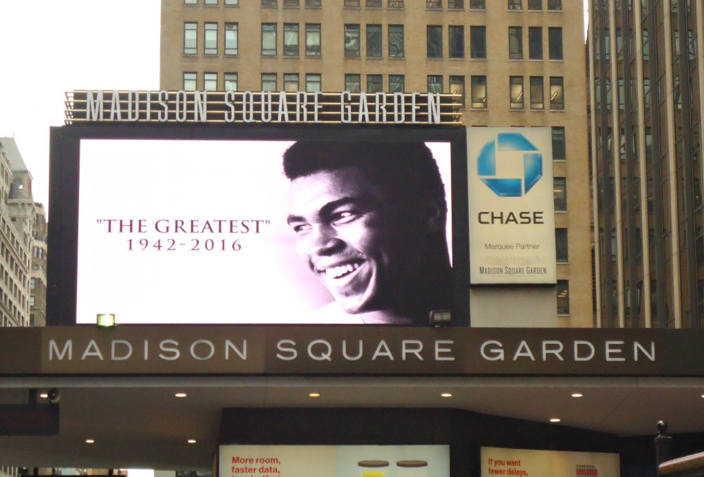 Muhammad Ali Way Street Sign Appears Outside Madison