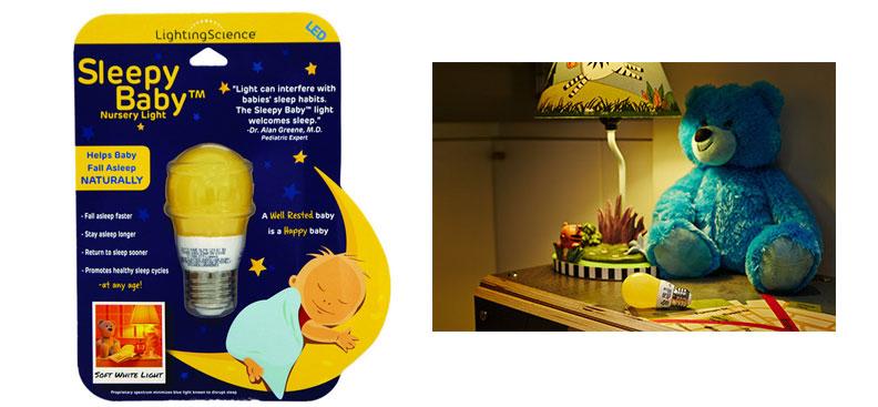 sleepy baby light bulb from-lighting science