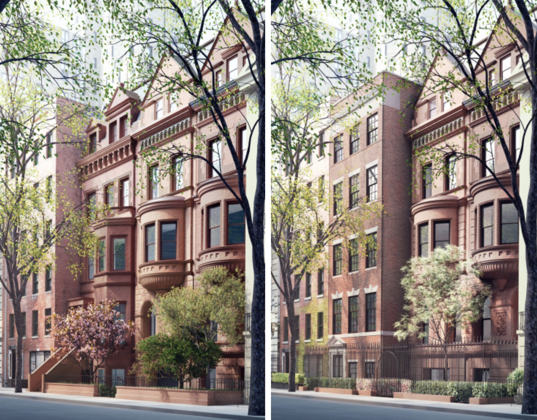 11-15 East 75th Street-front facades