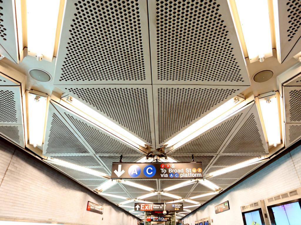 Subway sounds Fulton Transit Center Arup