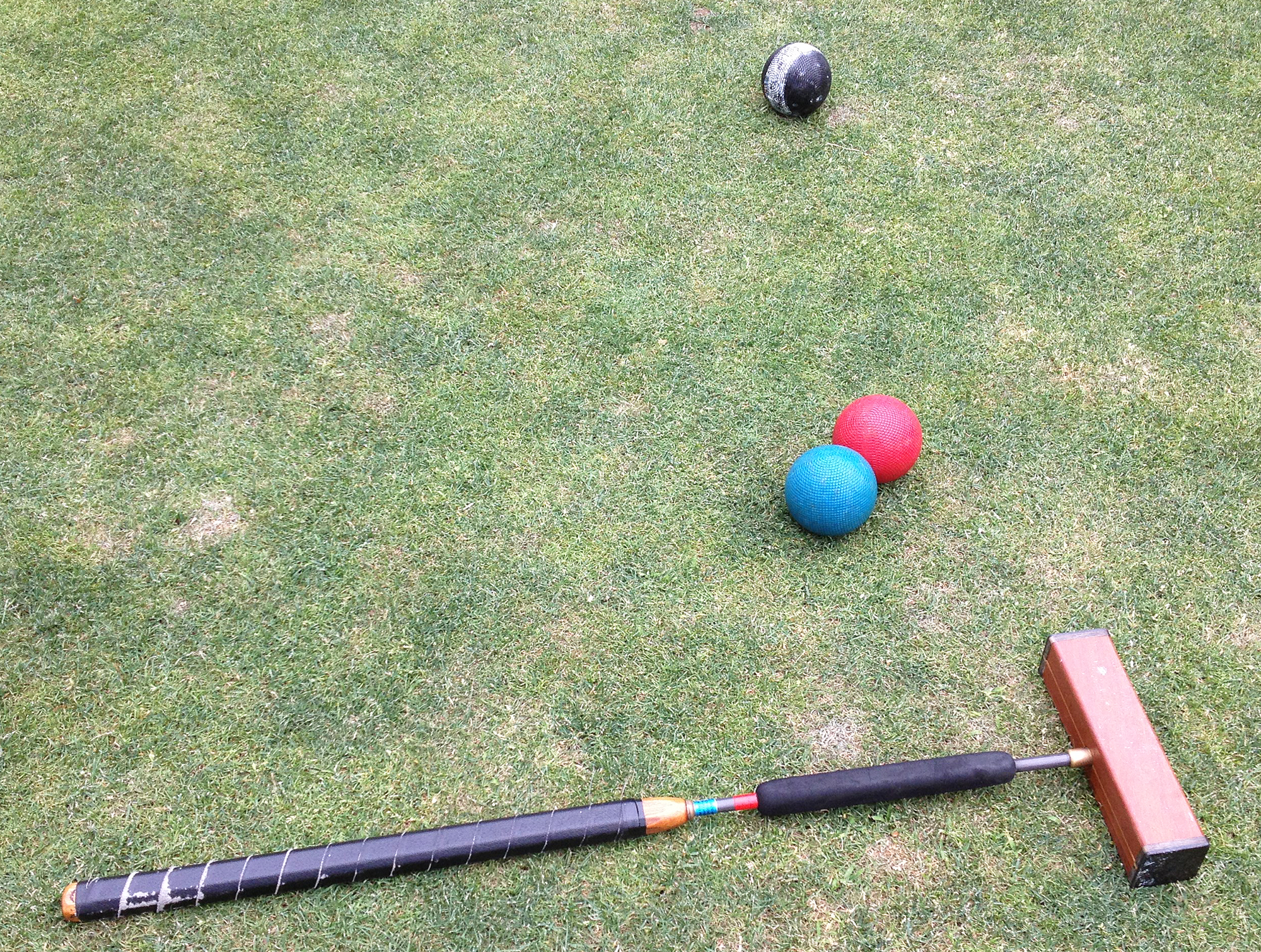 croquet mallet and balls, New York Croquet Club, Central Park sports
