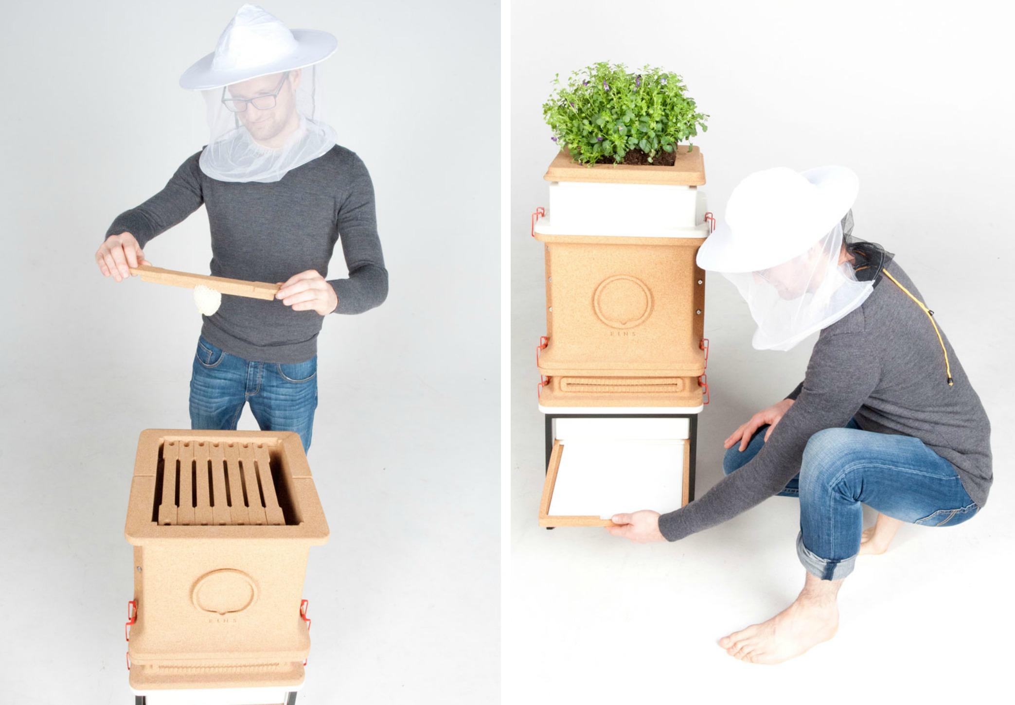 manufaktur eins, home beehive, maria emmrich, urban beekeeper, beehive design