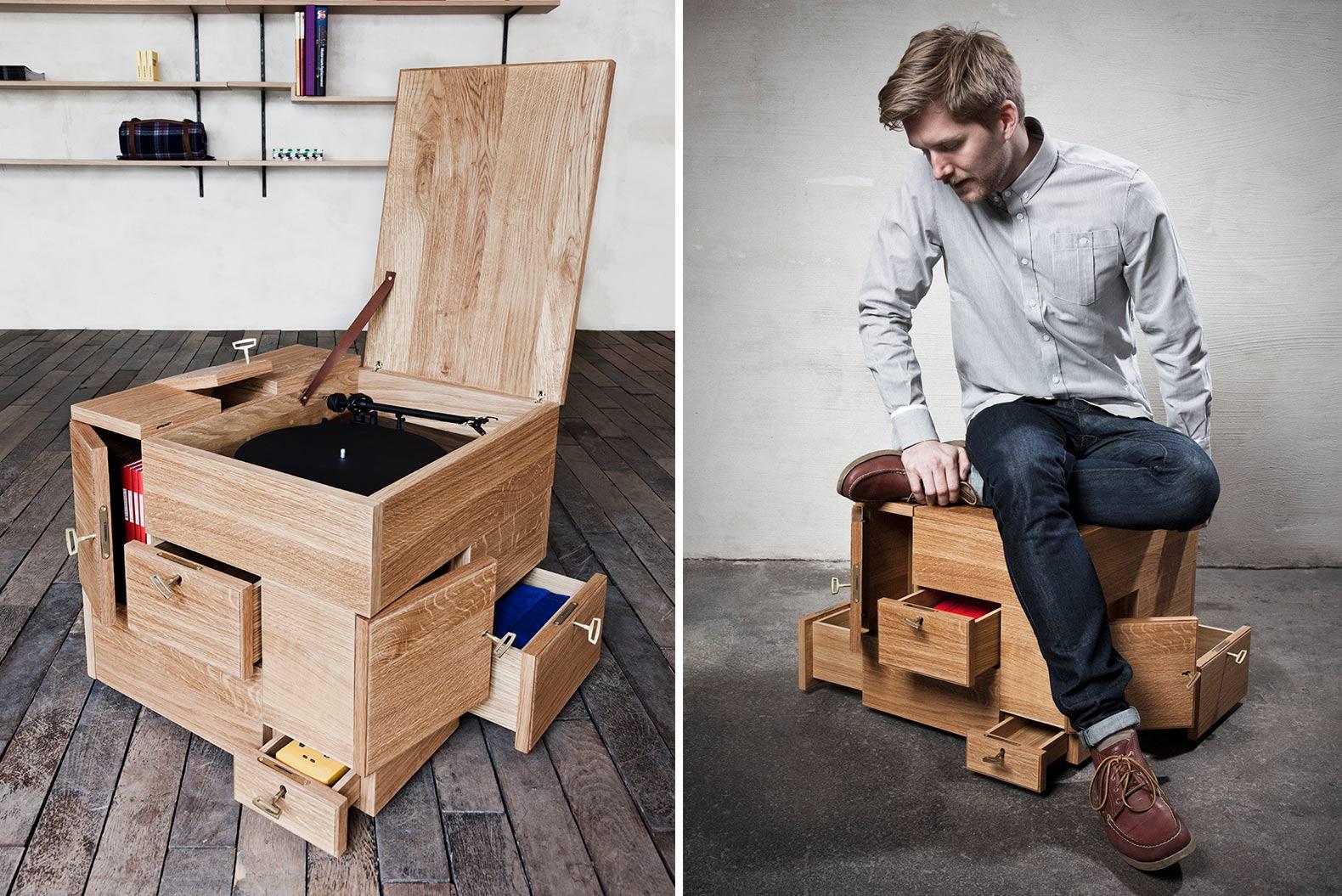 Sigurd Larsen, wooden cube, minimal furniture, furniture for valuables, The Shrine