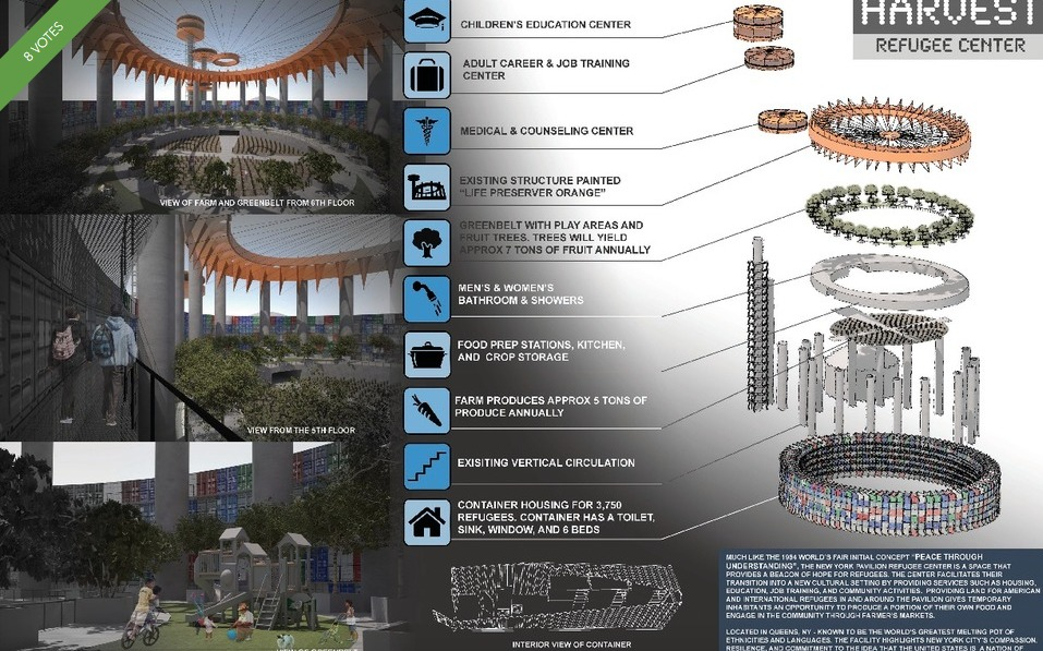 NY State Pavilion-Competition-Refugee Center