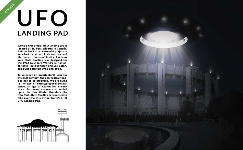 NY State Pavilion-Competition-UFO Landing Pad