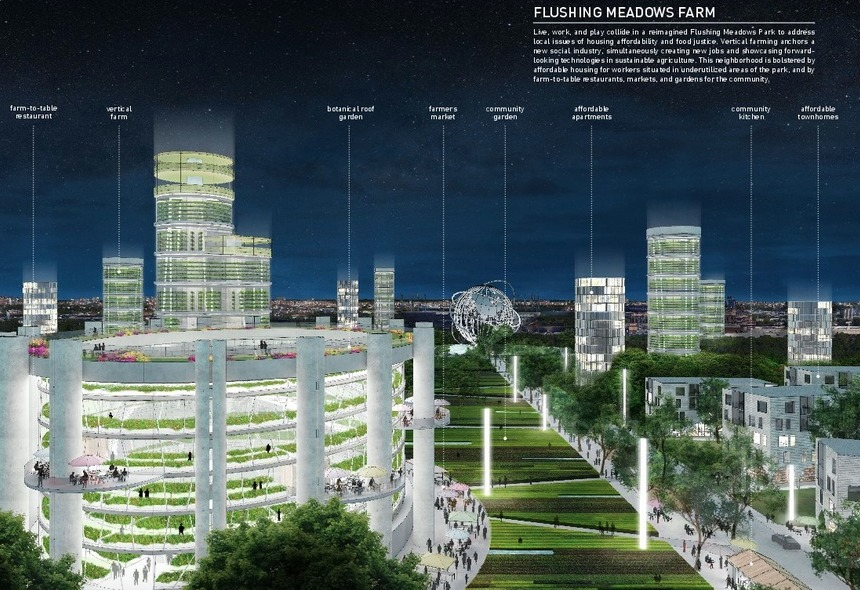 NY State Pavilion-Competition-Flushing Meadows Farm