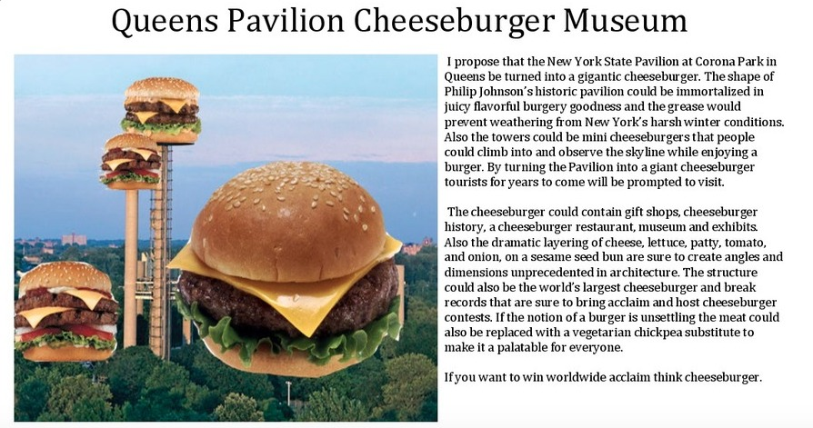 NY State Pavilion-Competition-Cheeseburger Musuem