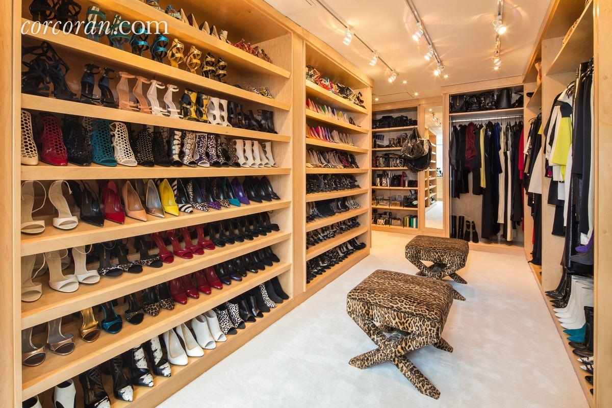 3 East 95th Street, Carhart Mansion, Tamara Mellon, shoe closet, walk in closet