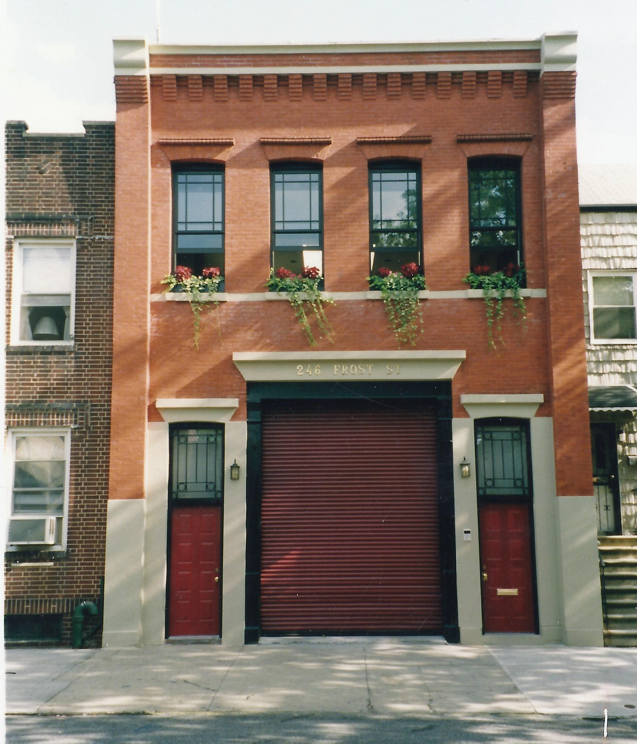 246 Frost Street, Williamsburg, firehouse,