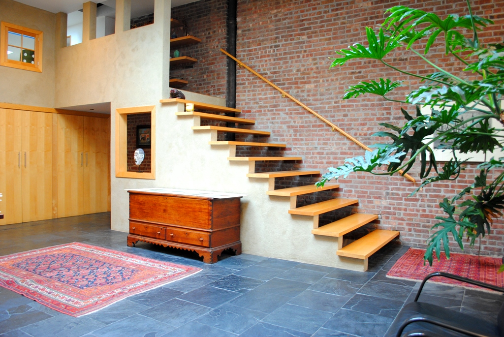 246 Frost Street, Williamsburg, firehouse, stairs