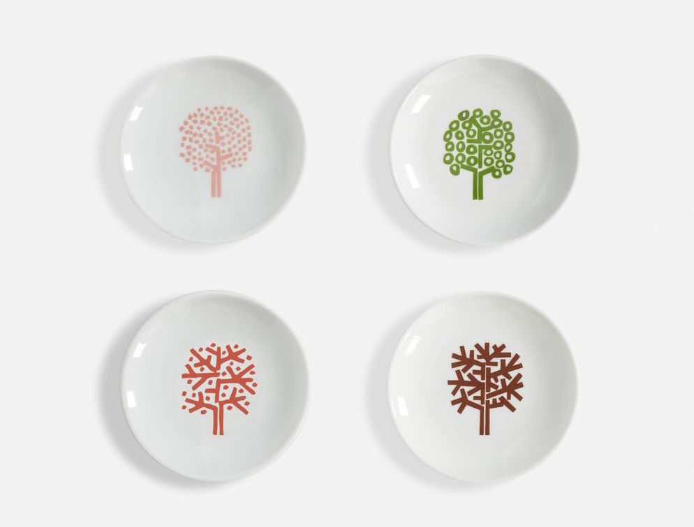Four Seasons Auction Plates Four