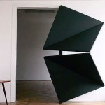 Evolution Door, KLEMENS TORGGLER, door design, kinetic doors, flip panel door, origami door, folding door, interior design, origami-inspired design