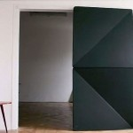 Evolution Door, KLEMENS TORGGLER, door design, kinetic doors, flip panel door, origami door, folding door, interior design, origami-inspired design
