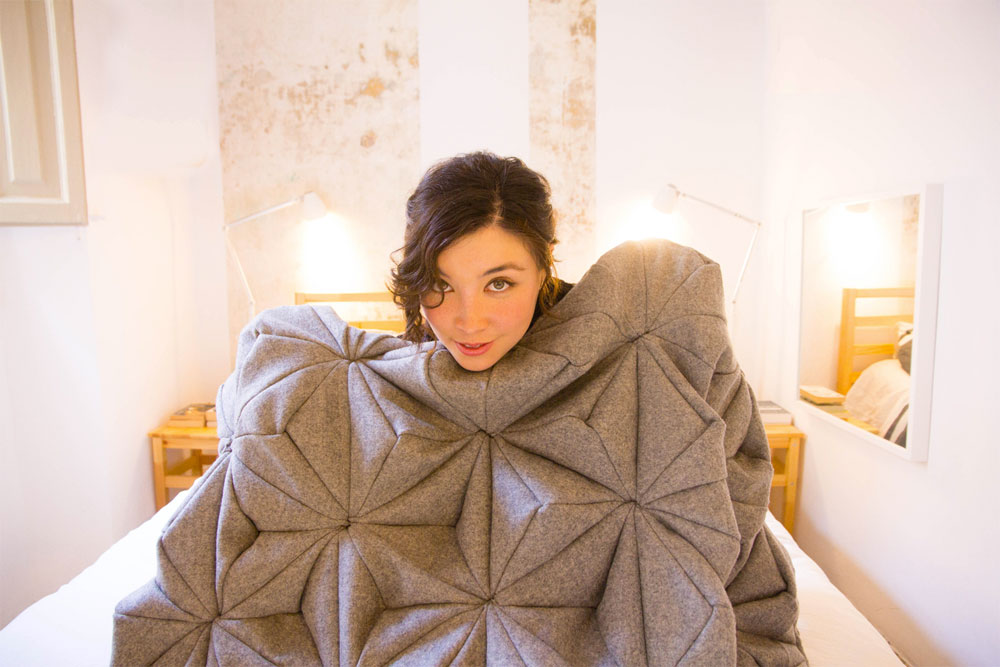 Bianca Cheng Costanzo, Cashmere Wool Blanket, BLOOM Blanket