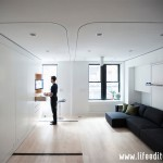 transforming apartment, transforming furniture, graham hill, famous apartment, ted talk, life edited, life edited apartment, multi-tasking furniture, sliding house, transforming house, folding apartment, space saving design, high tech apartments tiny apartment, NYC apartment, New York City apartment, New York interiors