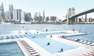 concept drawing, Plus Pool, Brooklyn design team, concept art, pool design, East River